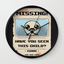 Missing Poster Wall Clock