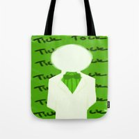 homestuck Tote Bags featuring Doc Scratch by MandaSociety6