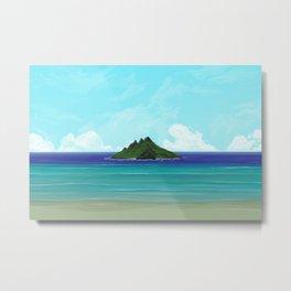 One Lost Island Metal Print