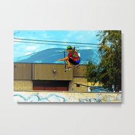 Born to Scoot - Scooter Boy Metal Print
