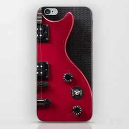 Red Guitar iPhone Skin