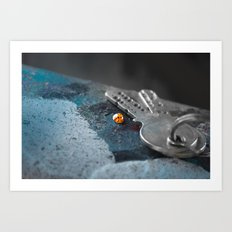 Lonely Ladybug Art Print