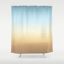 beach color gradient Shower Curtain