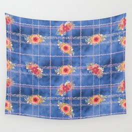 Floral Smash The Patriarchy Tartan Wall Tapestry