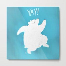 Yay! Polar Bear Metal Print