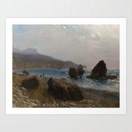 LAGORIO, LEV (1827-1905) Sea Shore. Crimea Art Print