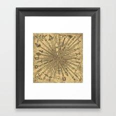 Sharp Items Through History Framed Art Print