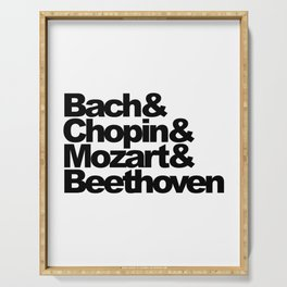 Bach and Chopin and Mozart and Beethoven Serving Tray