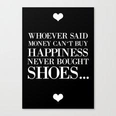 happiness black Canvas Print