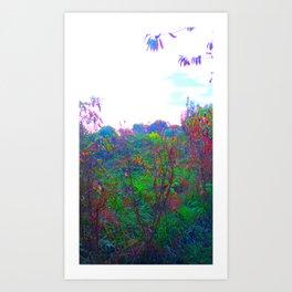 Neon Weeds Art Print