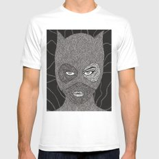 CATWOMAN Mens Fitted Tee MEDIUM White