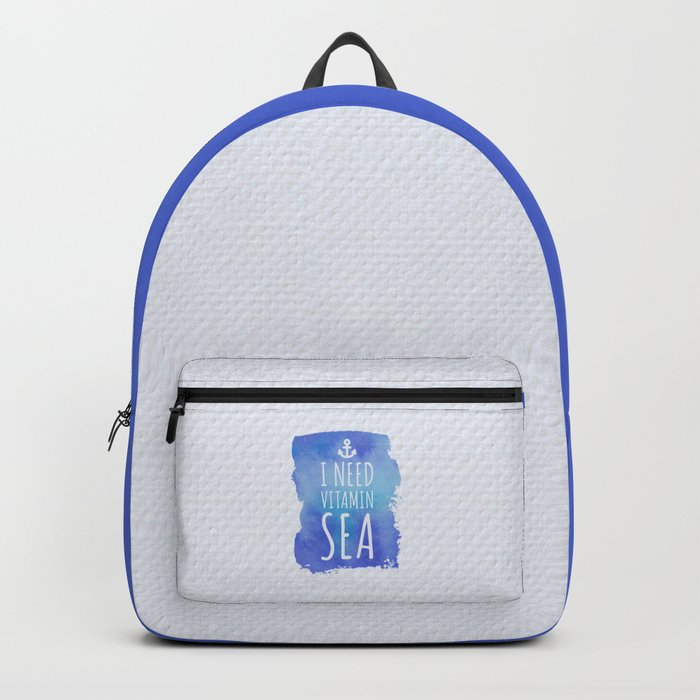 I Need Vitamin Sea Quote Backpack