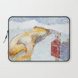 Valentines polar bear Laptop Sleeve