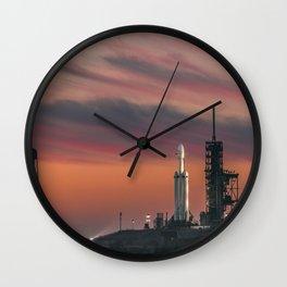 Falcon Heavy Epic Sky Wall Clock