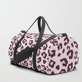 Leopard Print - Pink Chocolate Duffle Bag