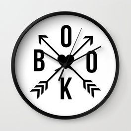 Book with Arrows and Heart Wall Clock