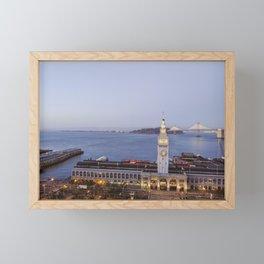 Dusk at the Ferry Building, San Francisco #1 Framed Mini Art Print