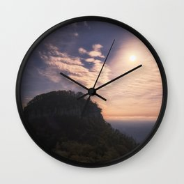 Pilot Mountain Morning Wall Clock