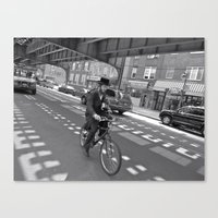 cycling Canvas Prints featuring Cycling by Sebastiano Carbone