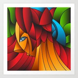 The Queen Cubism Art Art Print