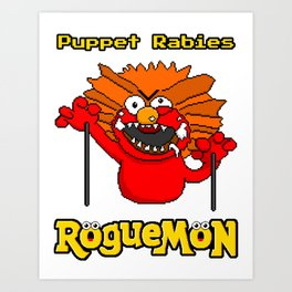 Puppet Rabies Art Print