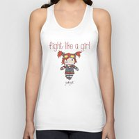 borderlands Tank Tops featuring Fight Like a Girl - Borderlands 2 ~ Gaige by ~ isa ~