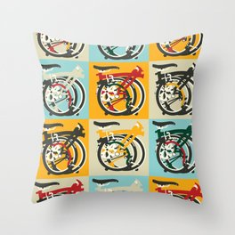 London Brompton Bicycle Throw Pillow