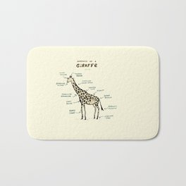 Anatomy of a Giraffe Bath Mat