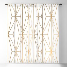 Gold Geometric Pattern Illustration Blackout Curtain