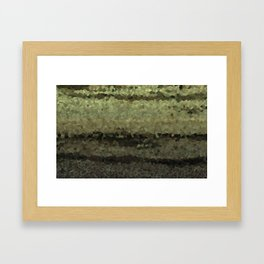 Wood and stone layers abstract pattern Framed Art Print