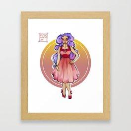 Vintage Girl / Pin up Framed Art Print