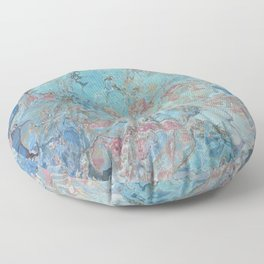 Planet Gracenerth Abstract Floor Pillow