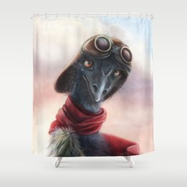 Queen Bess Emu Shower Curtain