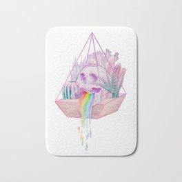 Rainbow Skull Succulent Crystal Garden Bath Mat