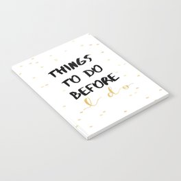 Things To Do Before I Do Notebook
