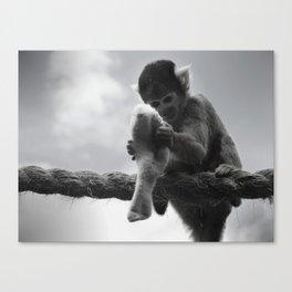 London Monkey Sock Canvas Print