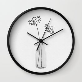 Flower Still Life II Wall Clock