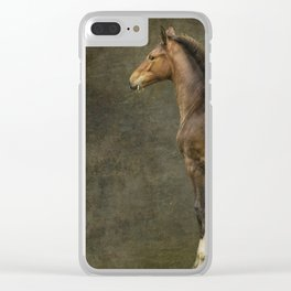 Bred for Beauty dk Clear iPhone Case