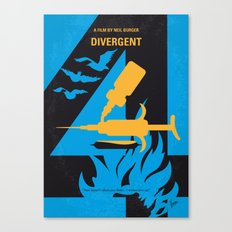 No727 My DIVERGENT minimal movie poster Canvas Print