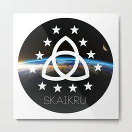 Skaikru - The 100 Metal Print
