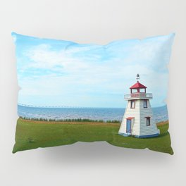 Tiny Lighthouse and Giant Bridge Pillow Sham