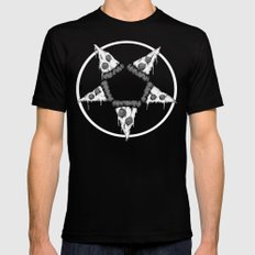 Pizzagram (Monochrome) Mens Fitted Tee Black MEDIUM