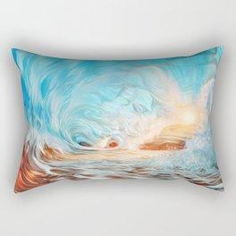 The evening wave Rectangular Pillow