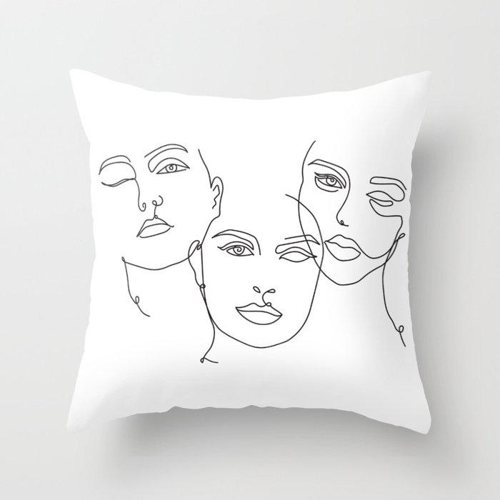 Three Sins Throw Pillow