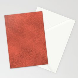 Pantone Living Coral, Liquid Hues, Abstract Fluid Art Design Stationery Cards