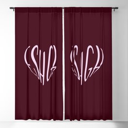 eshgh | عشق | love Blackout Curtain
