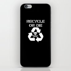 Recycle White iPhone & iPod Skin