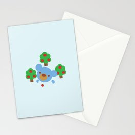 "Teddy theBlue Bear ""Apples"" Stationery Cards"