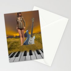 Sands of Music Stationery Cards