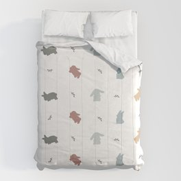 Bunny Silhouette Pattern Comforters